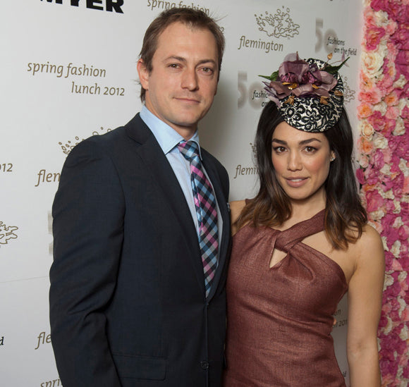 melanie vallejo, spring racing, fashion, fascinator, dress, style, australian fashion