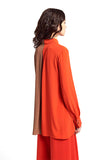 Beatrice B Bicolor Shirt Tan & Orange