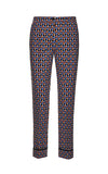 Beatrice B Tan Geometric Pants