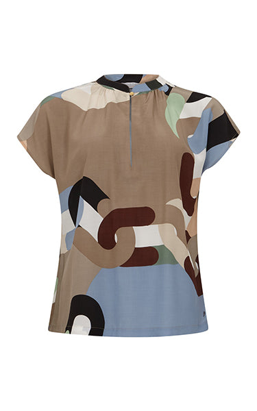 Coster Copenhagen Chain Print Top