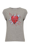 Coster Copenhagen Grey Heart T Shirt