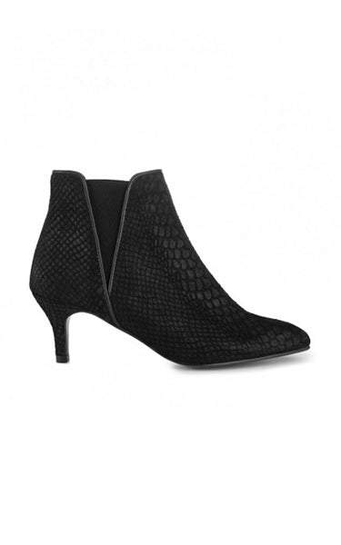 Ivy Lee Linn Ankle Boots in Black Croco