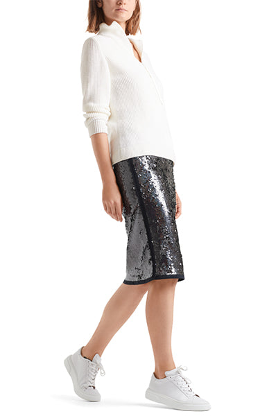 Marc Cain Midnight Blue Sequin Skirt