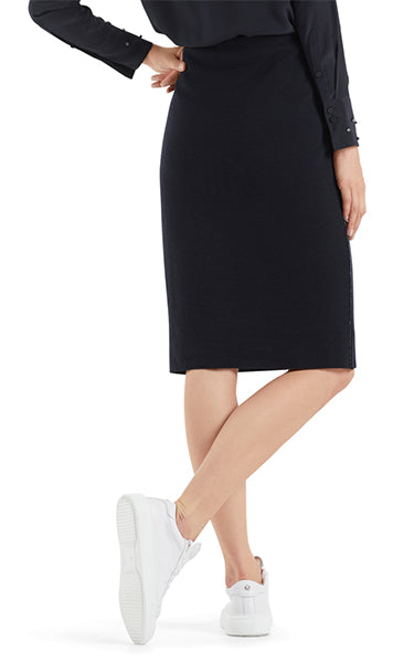 Marc Cain Wool Skirt in Midnight Blue