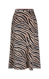Marc Cain Zebra Print Skirt in Cuban Sand