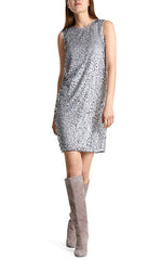 Marc Cain Silver Sequin Dress