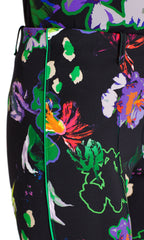 Marccain Print Scuba Pants in Black Floral