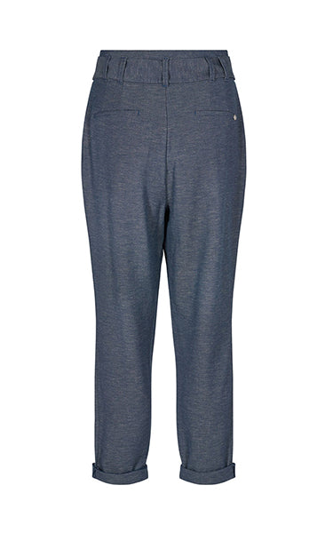 Mos Mosh Liva Linen Pants in Dark Blue