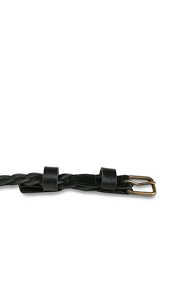 Status Anxiety All We Have Belt Plaited Black