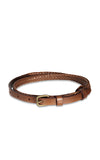 Status Anxiety Only Lovers Left Tan Plaited Belt
