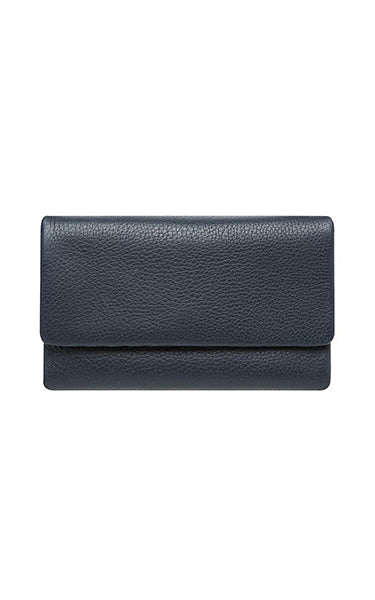 Status Anxiety Audrey Wallet Navy Pebble
