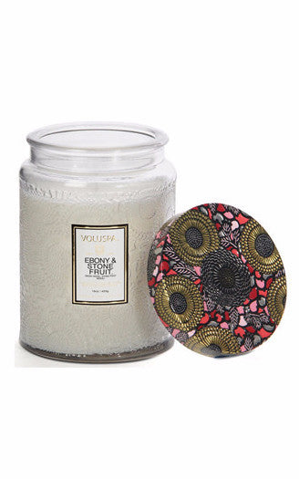 Voluspa Ebony & Stone Fruit 100 hr Candle