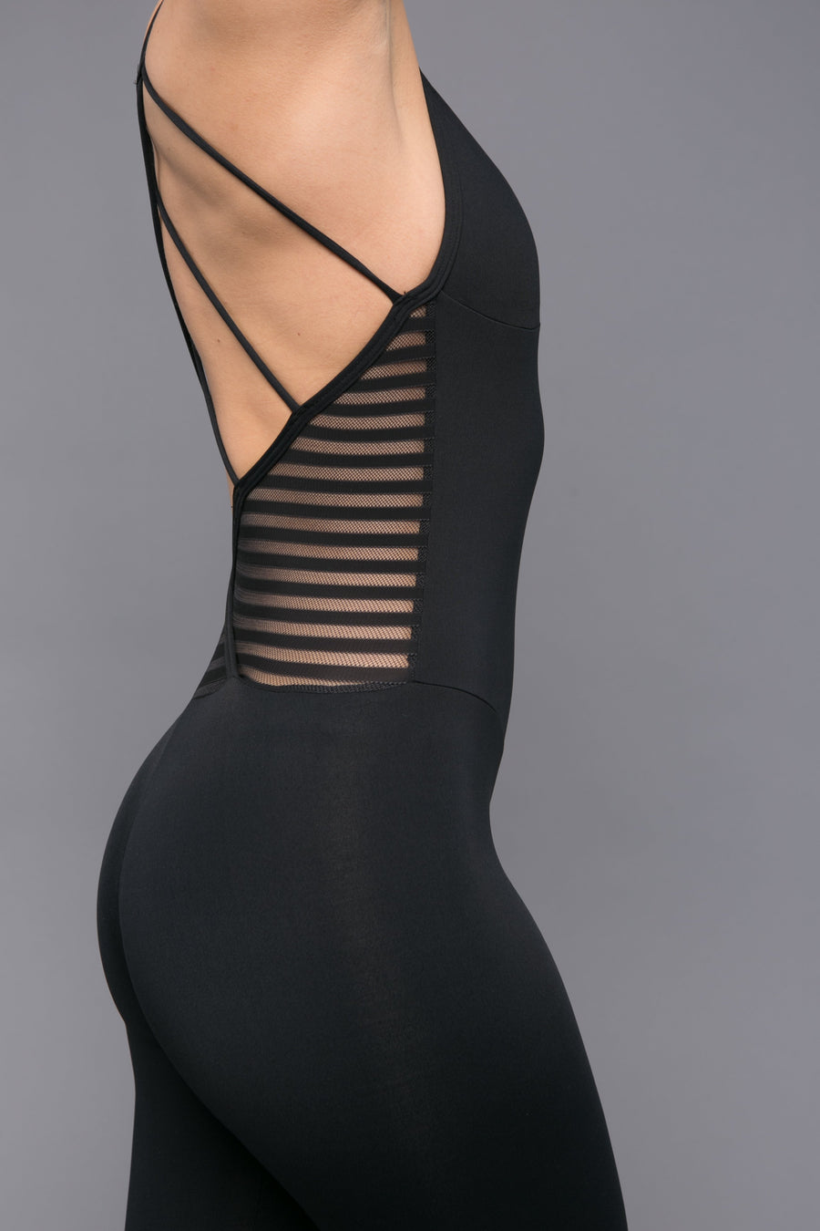 Strappy Back Sheer Jumpsuit