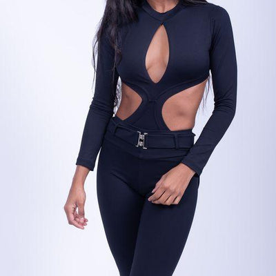 KEY-HOLE CUT OUT Leotard - Swimming Wear