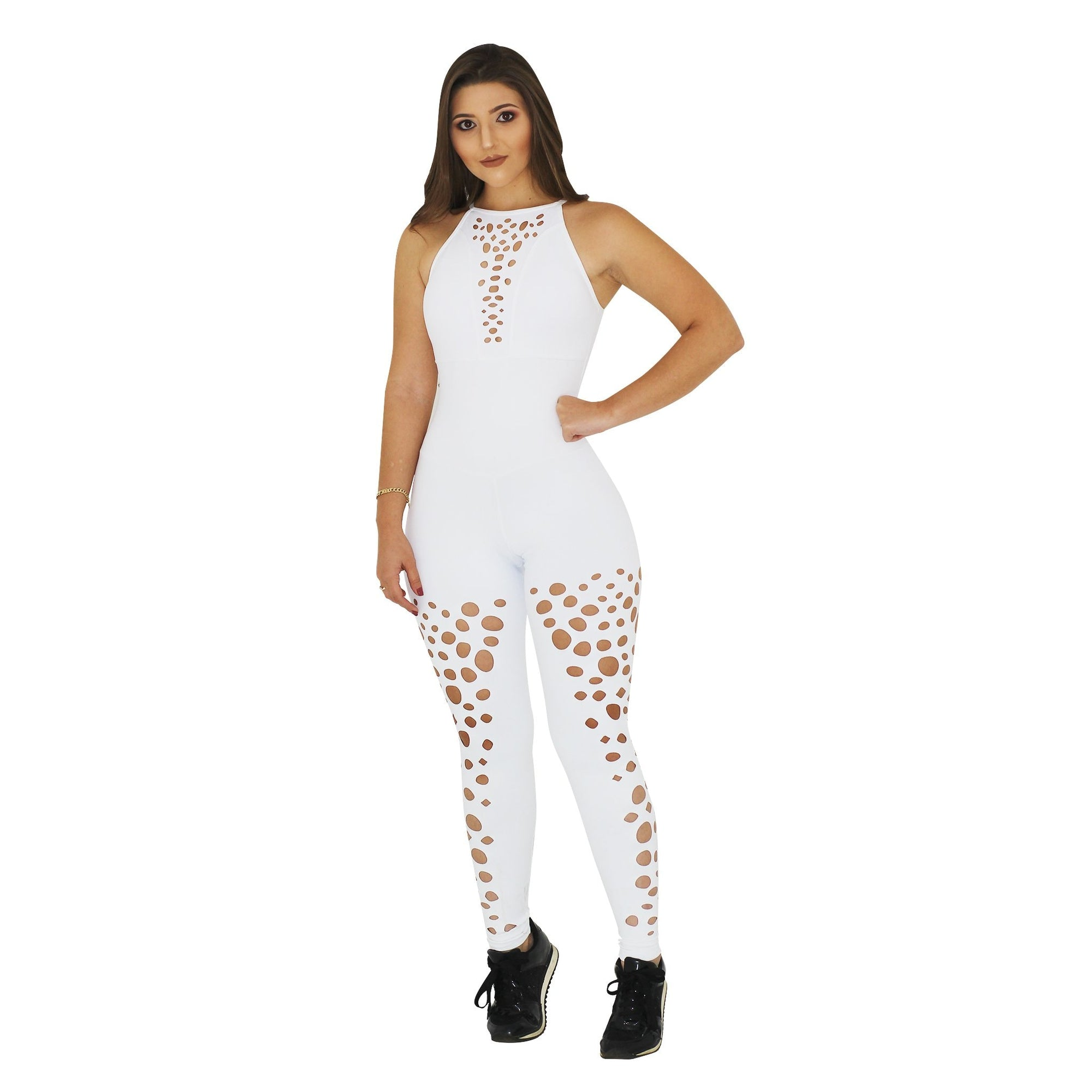 White Lush Bodysuit by Alemana