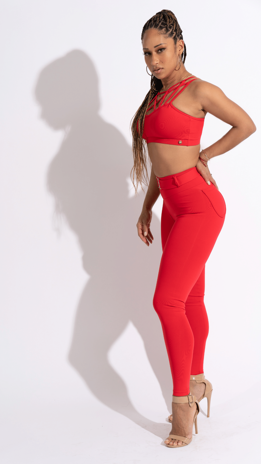Red Power Leggings- Desiree Godsell Collection