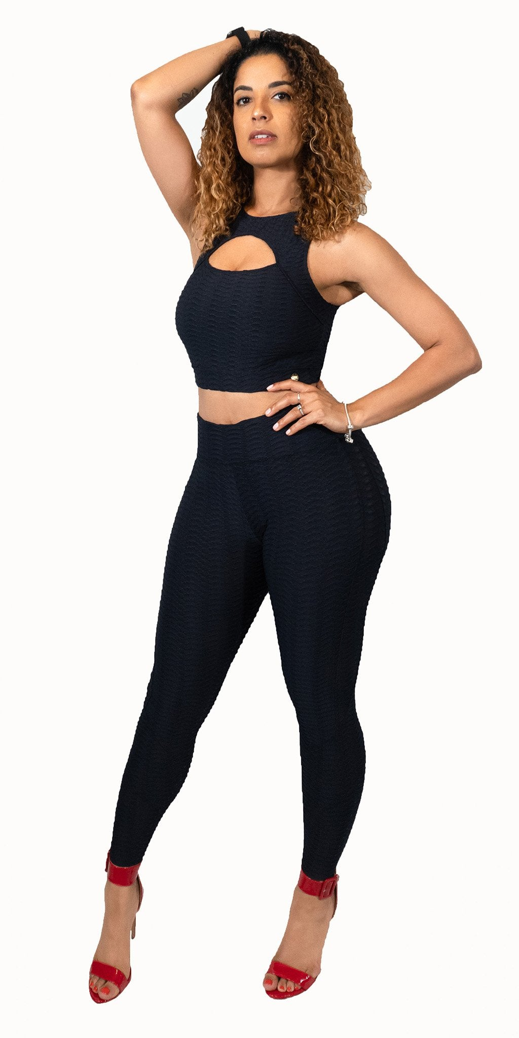 Love Yourself Leggings in Black by Alemana