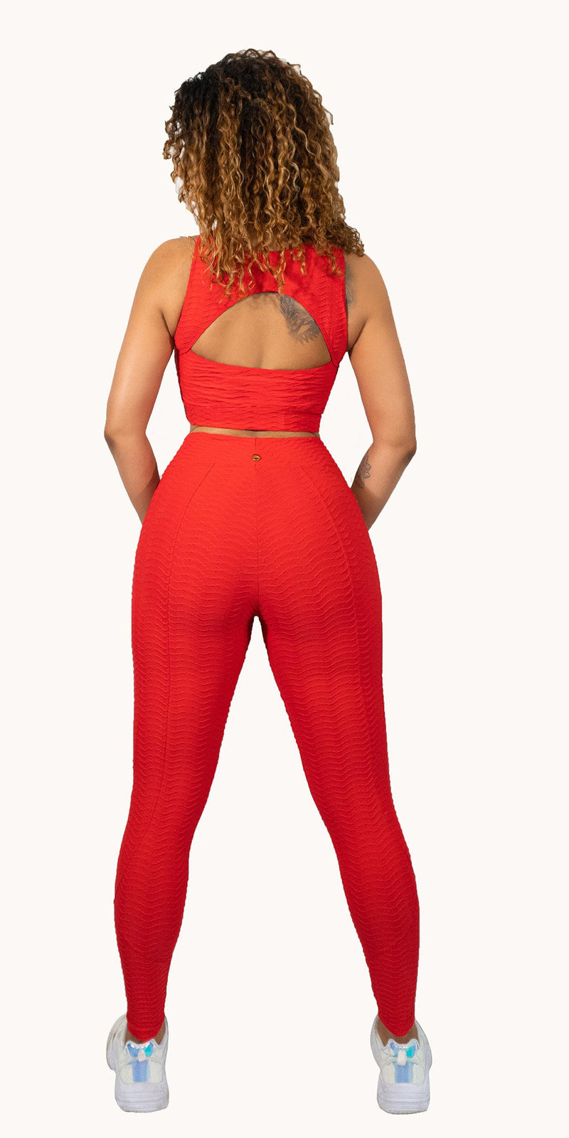 Love Yourself Leggings in Red by Alemana