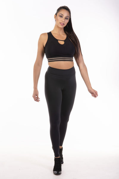High Power Cropped Top - Black