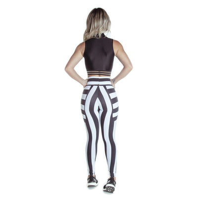 SOPHIE STRIPED BLACK AND WHITE LEGGINGS
