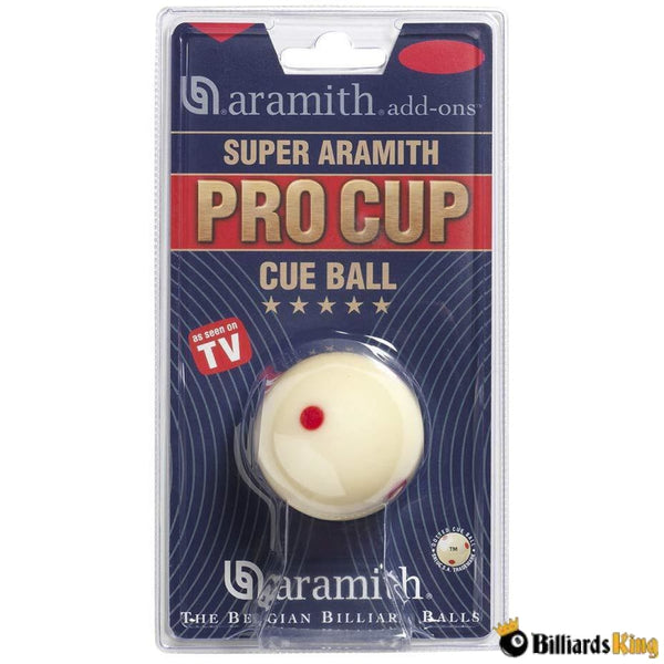 Aramith Super Pro Cup Measle Cue Ball - Billiards King