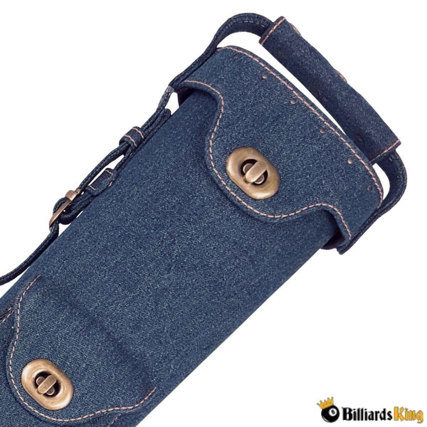 Instroke Limited Denim 2 Butt 4 Shaft 2B/4S Hard Pool Cue Case | Billiards King