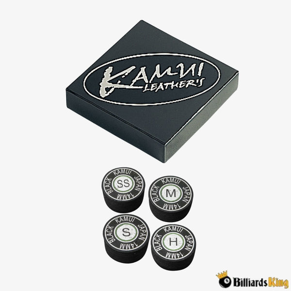 Kamui Black Leather Tip - Billiards King
