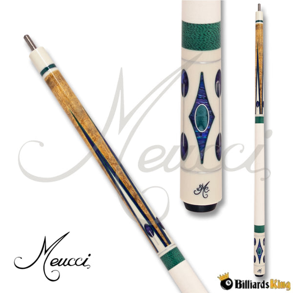 Meucci BMC Crusher White Pool Cue Stick - Billiards King