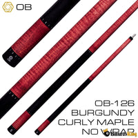 OB Cues OB-126 Pool Cue Stick (Butt Only) | Billiards King