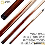 OB Cues OB-1834 Sneaky Pete Hustler Pool Cue Stick (Butt Only) | Billiards King