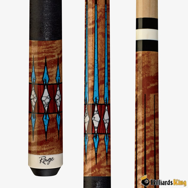Rage RG208 Turquoise Love Pool Cue Stick - Billiards King