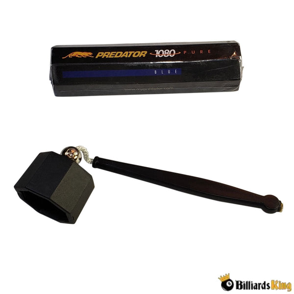 Tube of Predator 1080 Pure Chalk (5 cubes) & Octagon Shaped Pocket Chalker/Holder - Billiards King