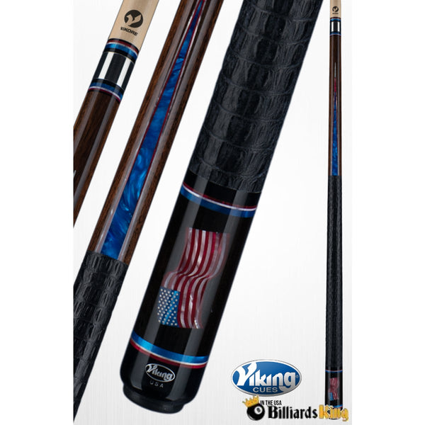 Viking B5601 (A561) American Flag Pool Cue Stick - Billiards King