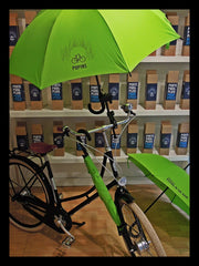 Parapluie anti-vent vert-anis - Green-anis windproof umbrella