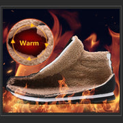 116366 Winter Men Warm Shoes Fur Inside For Middle old age Walking Cotton-padded boots