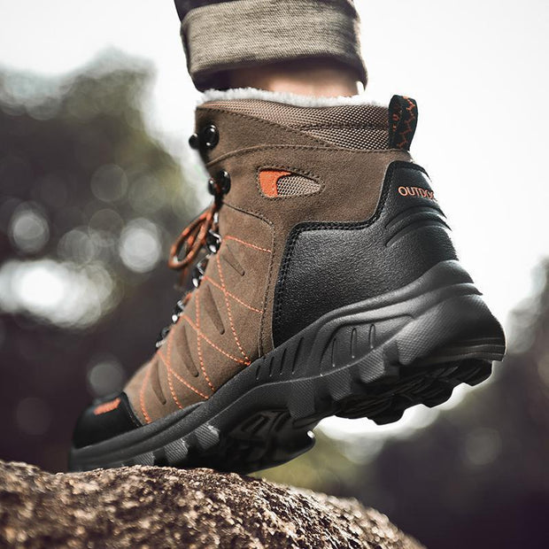 Men Outdoor Plush High-top Hiking Boots