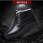 Men Water-Resistant High-Top Cotton Snow Boots