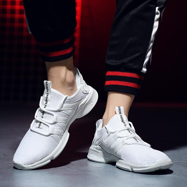 Men shoes super light breathable flying weaving four seasons sports casual shoes