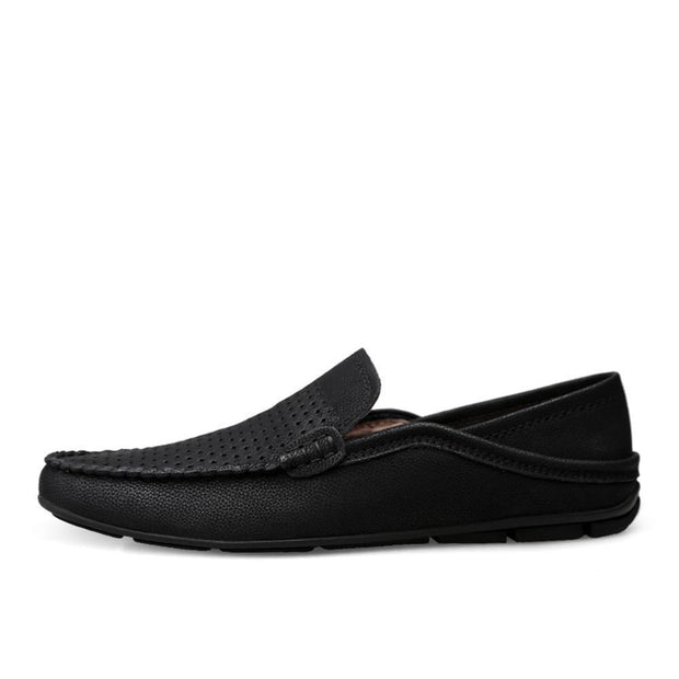 Men Moccasin Slippers Cowhide Leather Upper Fashion Style Driving Shoes 128885
