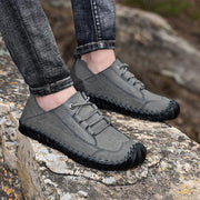 Men's Casual British Style Handmade Lace up Loafers Flat Shoes  133065