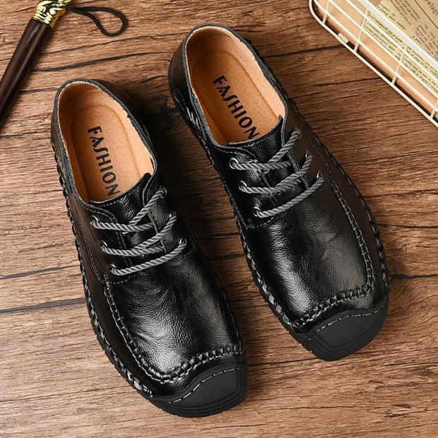 Men's Casual Breathable Lace-up Driving Boat Dress Shoes