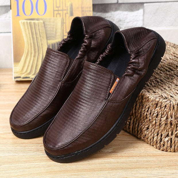 Men Microfiber Fabric Soft Sole Comfy Elastic Slip On Loafers 133332