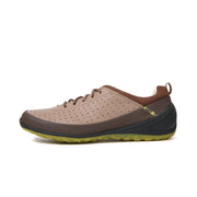 Men Genuine Leather Hollow Slip Resistant Soft Lace Up Casual Shoes 133345