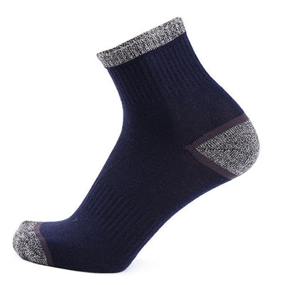 Men Casual Sport Breathable Cotton Middle Tube Socks High Elastic Deodorization Basketball Socks