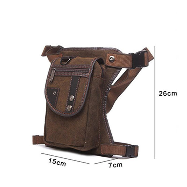 136916 Men's bag retro fashion outdoor sports leg bag wear-resistant waterproof bag