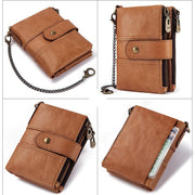 Men's anti-theft leather multi-function wallet