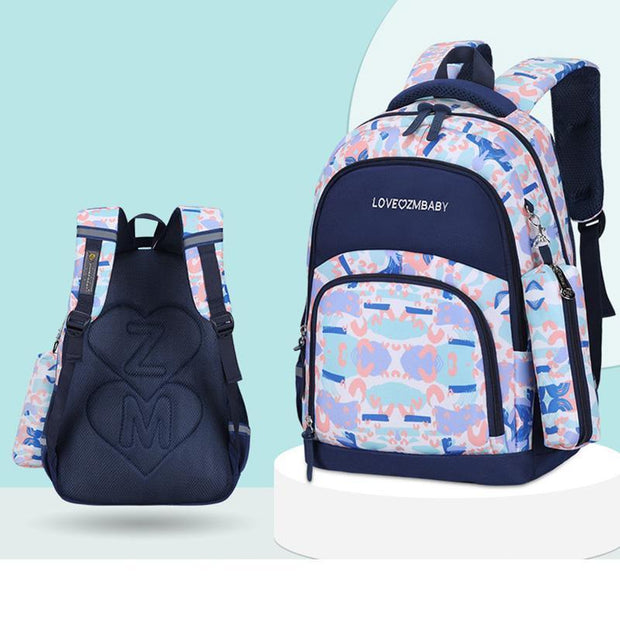Students' waterproof breathable wear-resistant weight loss bag sweet cute backpack