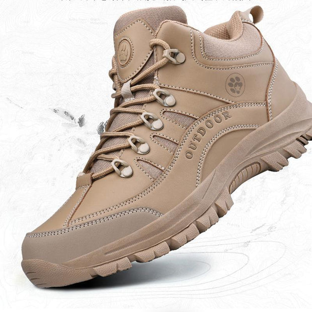 Men's New Trend Solid Color All Seasons Stylish Breathable Outdoor Hiking Non-Slip Boots