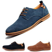 Men's new formal Oxford sneakers suede leather flats