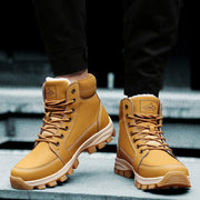 Men's Plus Velvet Trend Versatile Warmth Increase Wear-Resistant Thick-Soled Outdoor Tooling Boots